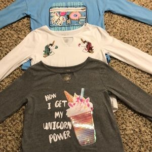 THREE Awesome sparkle shirts, one price!
